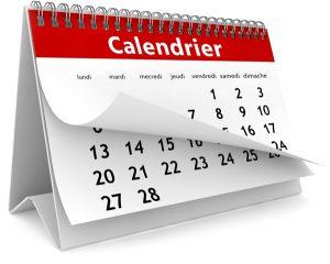 Clic sur le calendrier